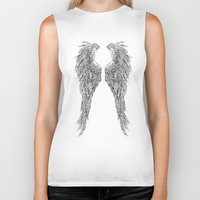 angel wings Biker Tanks featuring Angel wings by Annie0710