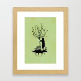 She Spins The Stars Framed Art Print