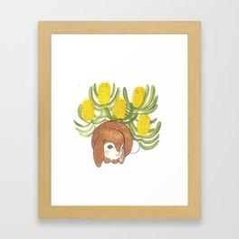 Bunny in Banksia Framed Art Print