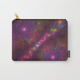 Colorful And Luminous Fractal Art Carry-All Pouch