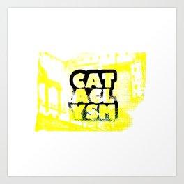 Cataclysm Yellow Print Art Print