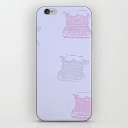 Typewriter blues iPhone Skin