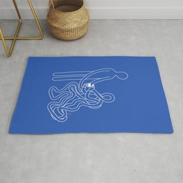 Commit to yourself (blue) Rug