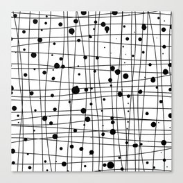 Woven Web black and white Canvas Print