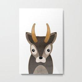 Baby Deer Print Metal Print
