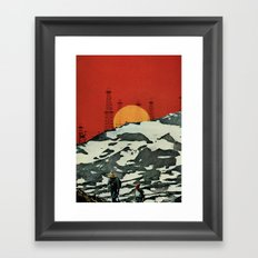 Sunset over Tibet Framed Art Print