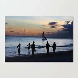 Cricket in Barbados  Canvas Print