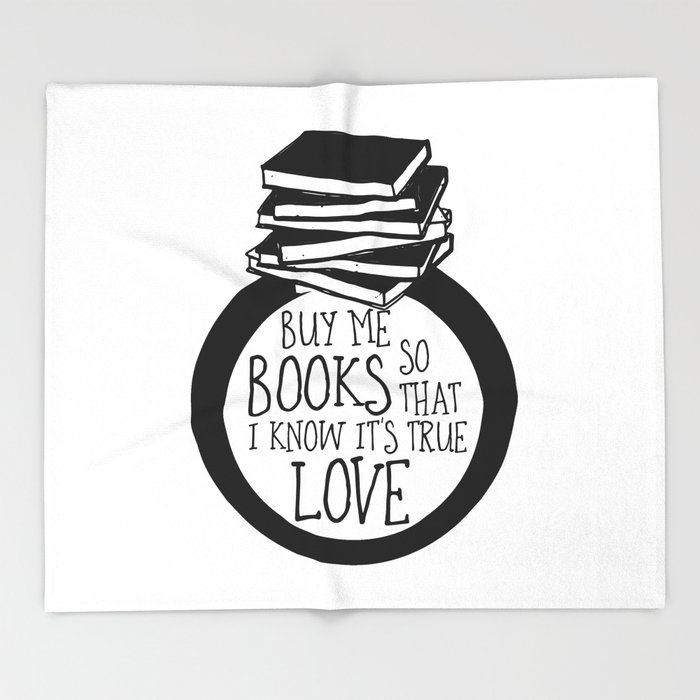 Bookish Engagment Throw Blanket