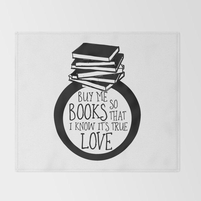 Bookish Engagment Throw Blanket