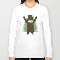 bear Long Sleeve T-shirts featuring Bear Hug? by Fanboy30
