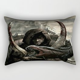 """""""Dragon's War"""" Rectangular Pillow"""