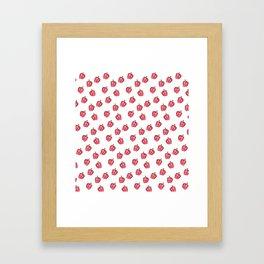 Red Pepper Watercolour Pattern Framed Art Print