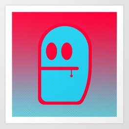 Grubbo Tempcolor Balance. Art Print