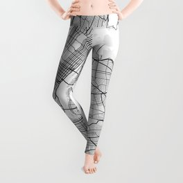 New York City Map of United States Leggings