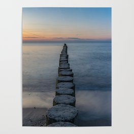 Path Through the Water to the Sunset Poster
