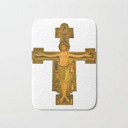 Medieval Style Jesus Christ on Cross Bath Mat