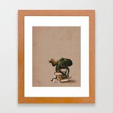 Well-Read Octopus Framed Art Print