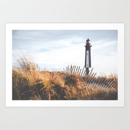 Cape Henry Lighthouse the 2nd ( Matte, Color) Art Print