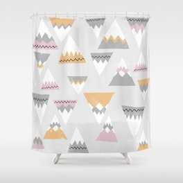 To the mountains! Shower Curtain