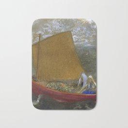 Odilon Redon - La Voile Jaune (The Yellow Sail) Bath Mat