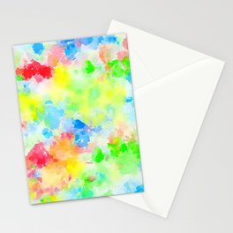 Watercolor Splashes Stationery Cards