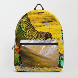 Fascinating Noble New Zealand Kiwi Flying Gliding Through Magnificent Landscape Close Up Ultra HD Backpack