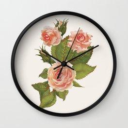 Rose Illustration Wall Clock