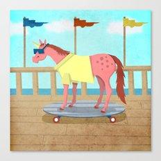 Summer Stroll Unicorn Canvas Print