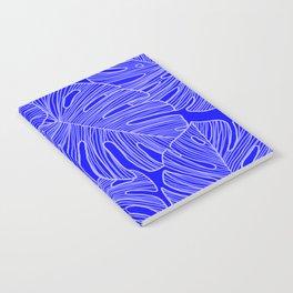 Cobalt Monstera Leaves Notebook