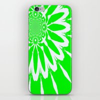 lime green iPhone & iPod Skins featuring Lime Green Modern Flower by 2sweet4words Designs