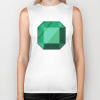 emerald Biker Tanks featuring Emerald by creativeesc