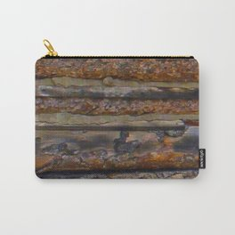 Aged Log Cabin rustic decor Carry-All Pouch
