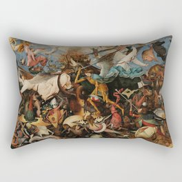 Pieter Bruegel the Elder The Fall of the Rebel Angels Rectangular Pillow