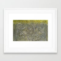 constellations Framed Art Prints featuring Constellations by Jose Luis