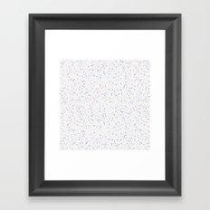 Speckles I: Rose Quartz & Serenity on Snow Framed Art Print
