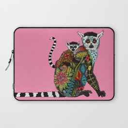 ring tailed lemur love pink Laptop Sleeve