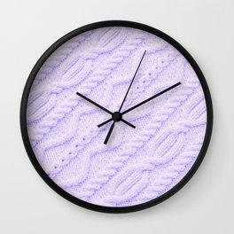 Lavender Cableknit Sweater Wall Clock