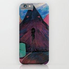 'Nether Fires' Milky Way & Stars mountain nighttime landscape by Marianne von Werefkin iPhone Case