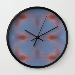 Abstract nebula in universe. Red meets blue energy.. Wall Clock