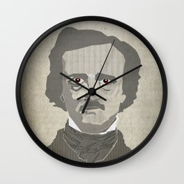 Old Eddy Poe Wall Clock
