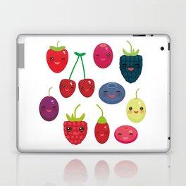 Kawaii Cherry Strawberry Raspberry Blackberry Blueberry Cranberry Cowberry Goji Grape Laptop & iPad Skin