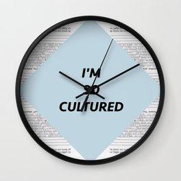 SO CULTURED Wall Clock