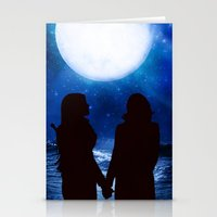 swan queen Stationery Cards featuring Swan Queen - Under a full moon by Two Swen Idiots