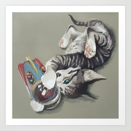 Spaceship kitten Art Print
