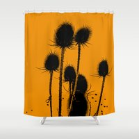 family Shower Curtains featuring Family by Die Farbenfluesterin