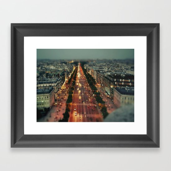 champs elysees Framed Art Print