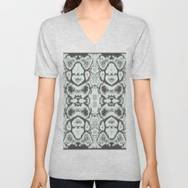 ikat snake skin in black and white Unisex V-Neck