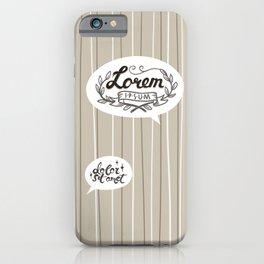 Designer SmallTalk iPhone Case