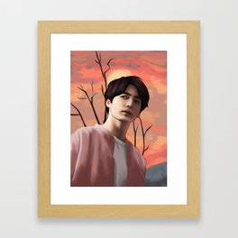 BTS JUNGKOOK LOVE YOURSELF FANART Framed Art Print