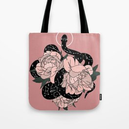Celestial Snake In Pink By Moon Goddess Market Tote Bag